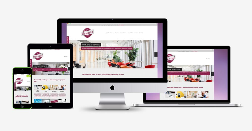 New responsive website launched for Bedazzled Cleaning Services