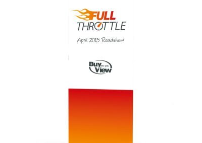 Full Throttle Branding Pull-Up Stand