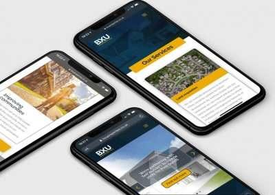 BXU Properties iPhone screens