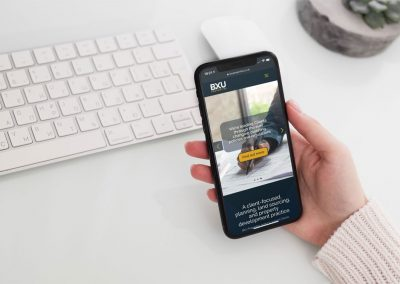 BXU Properties iPhone Homepage